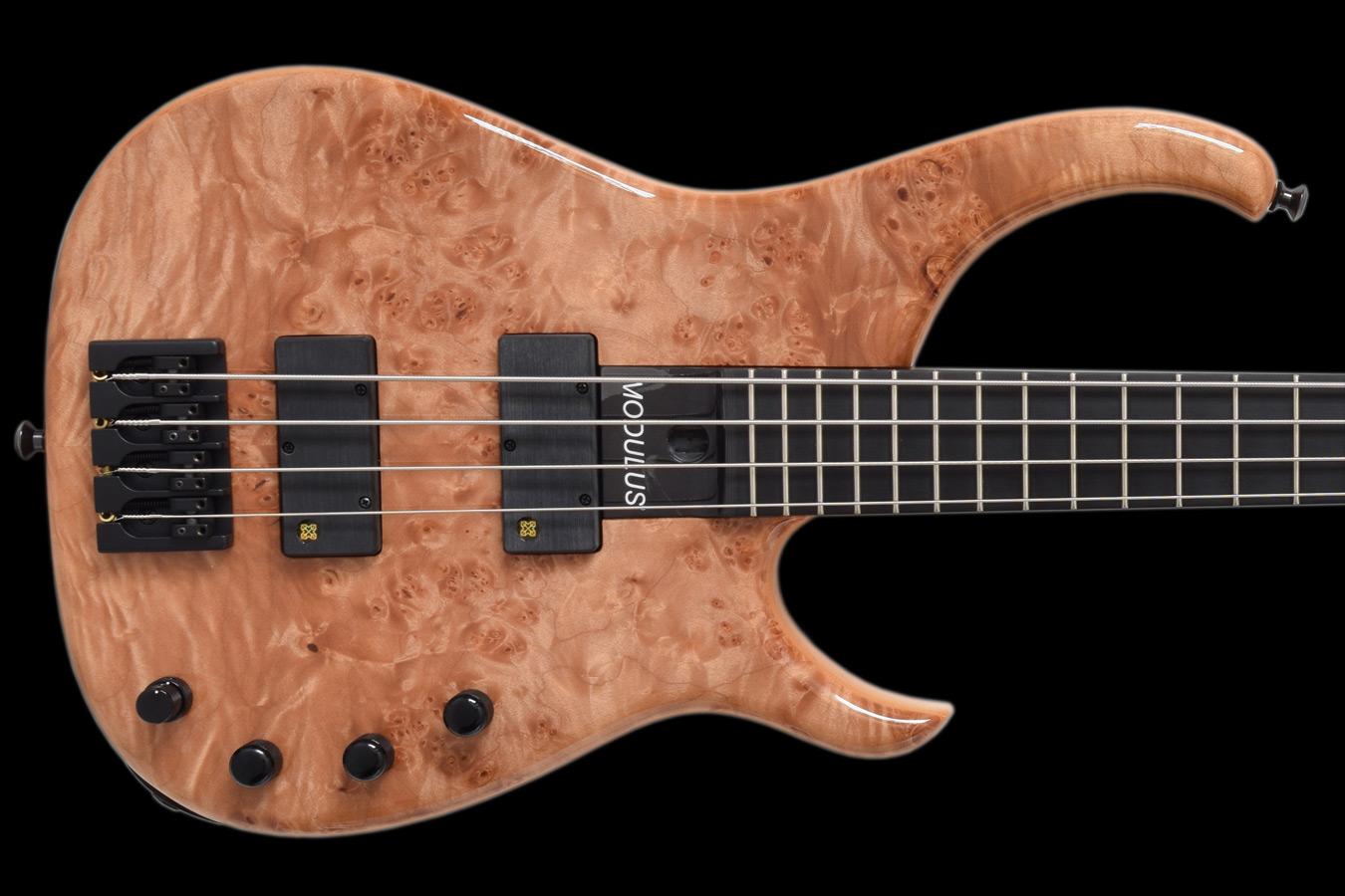 Modulus Bass Quantum 4 Burl Maple High End Bass Guitars