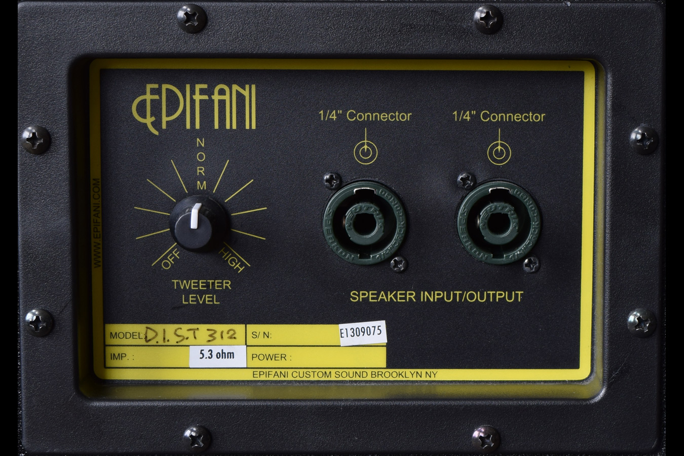 Epifani Dist 312 Bass Cabinet, High End Guitars, Amp, String