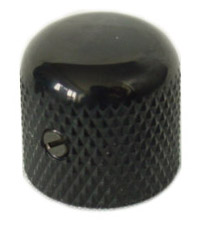 Black Dome Metal Knob